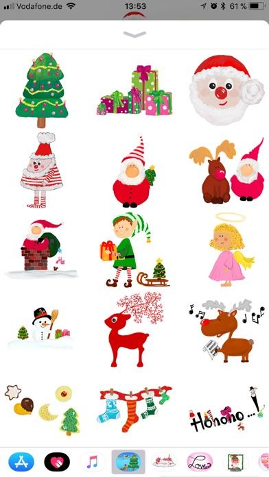 Стильные рождественские наклейСкриншоты 3