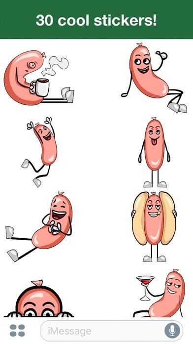 Горячая сосиска -Милые стикерыСкриншоты 2
