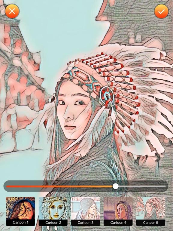Screenshots of Cartoon Photo Editor-Comic FX for iPad