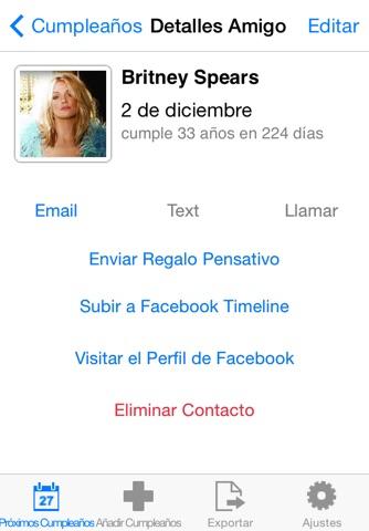 Birthday Reminder Pro+ screenshot 3