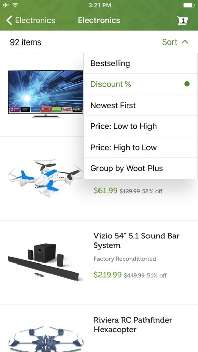 Screenshot 3 for Woot's iPhone app'