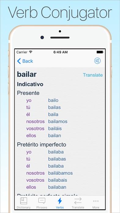 Screenshot #9 for Spanish Dictionary & Translator +