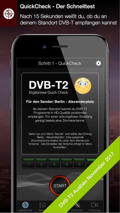 DVB-T2 Finder Screenshots