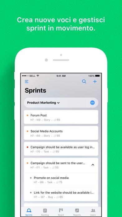 Screenshot of Sprints - Progetti Agile1