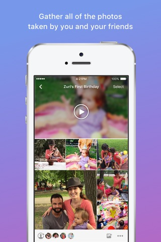 Moments–private shared albums screenshot 2