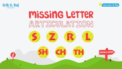 Missing Letter Articulation Screenshots