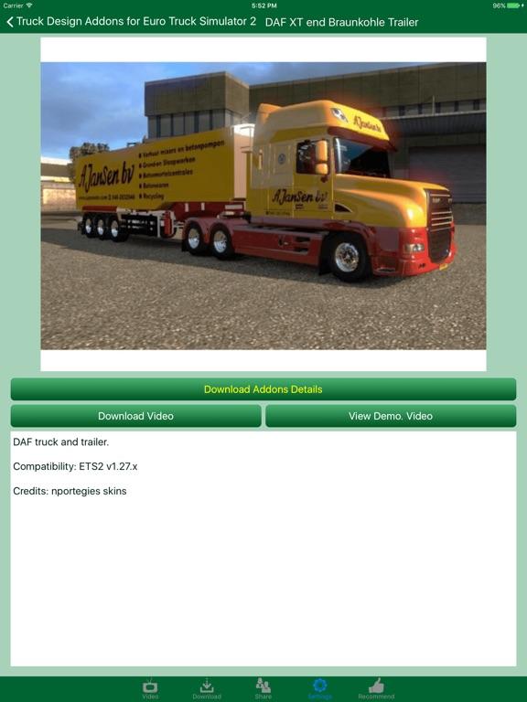 Truck design addons for euro truck simulator 2 on the app for Truck design app