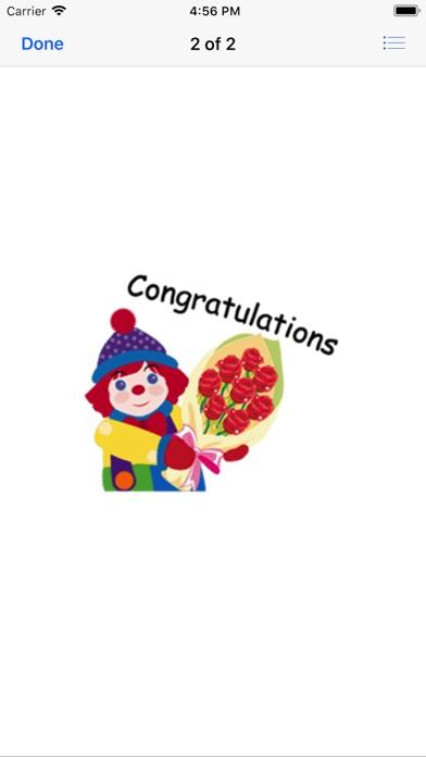 Congratulations Stickers 2018Скриншоты 1