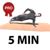 5 Minute Plank Abs Herausforderung PRO