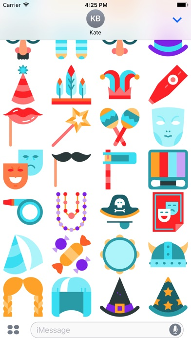 Carnival Emoji Stickers screenshot 3