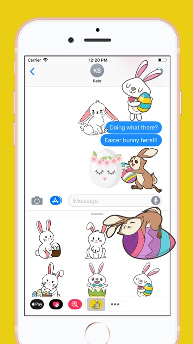 download Easter Rabbit 2018 Stickers apps 3