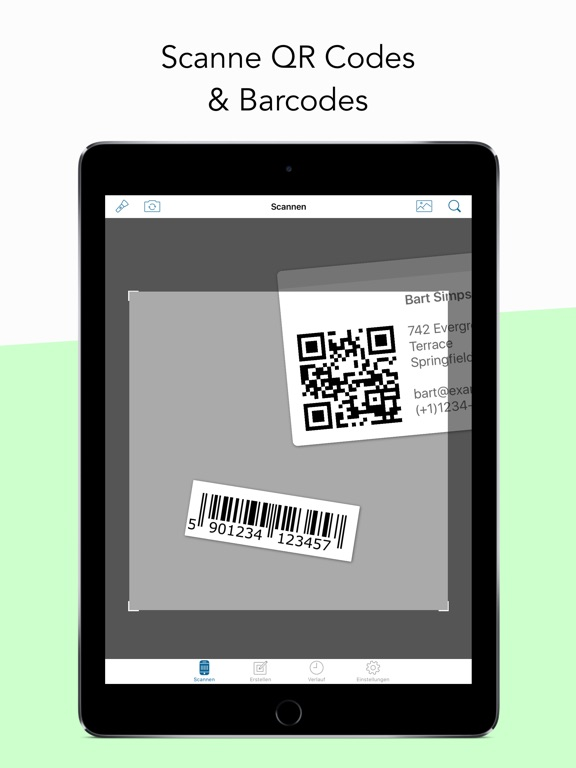 qr code barcode scanner im app store. Black Bedroom Furniture Sets. Home Design Ideas