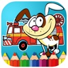 New Fire Truck And Patrol Coloring Book