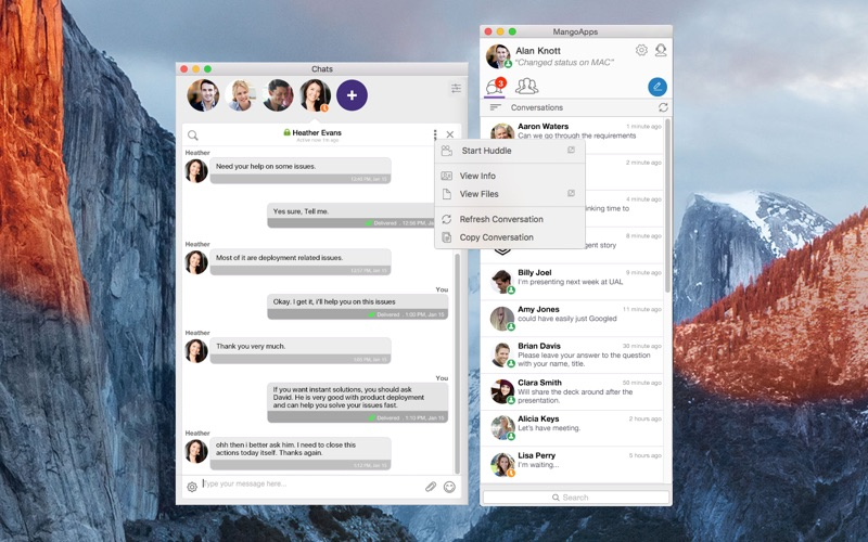 Office Chat: Secure Messaging For Businesses. for Mac