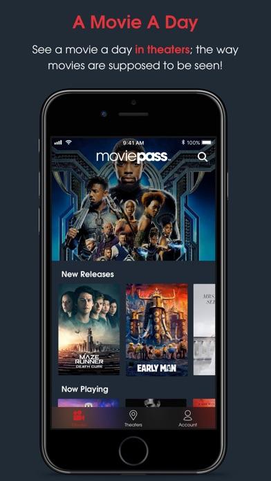 Screenshot 0 for MoviePass's iPhone app'