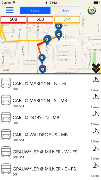 Dallas Public Transport Guide Screenshot