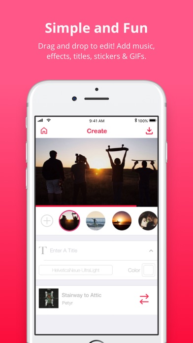 how to put music over a video app