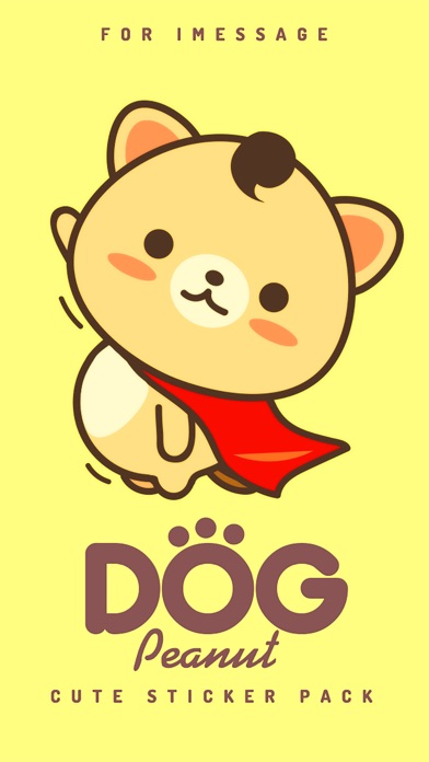 Screenshot of Peanut Dog StickerCute Emoji1
