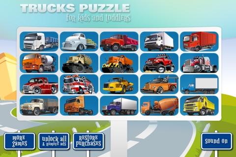 Trucks Puzzle screenshot 3