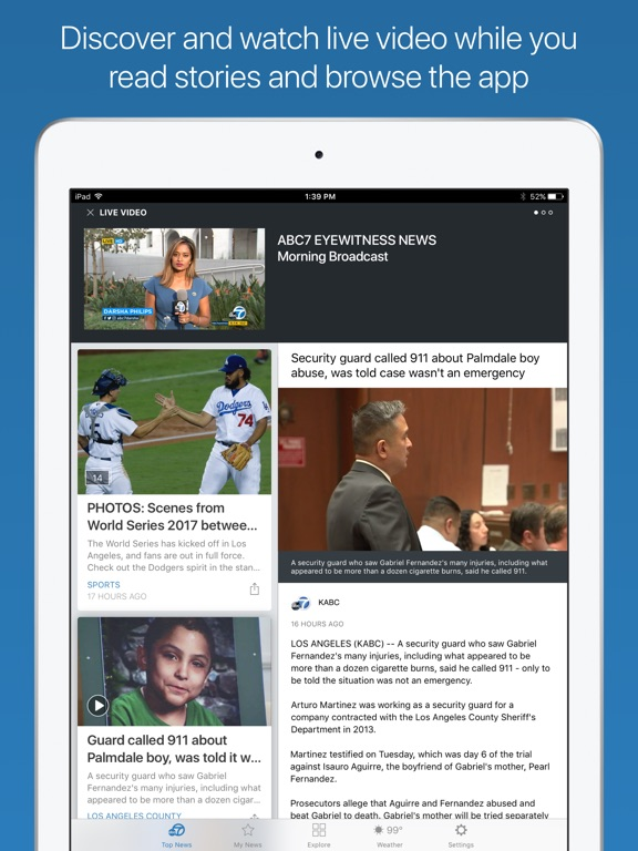 ABC7 Los Angeles iPad