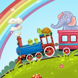 Animals Train for Toddlers Fun