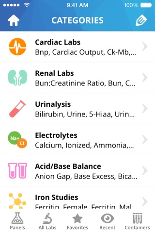 Lab Values Medical Reference screenshot 1