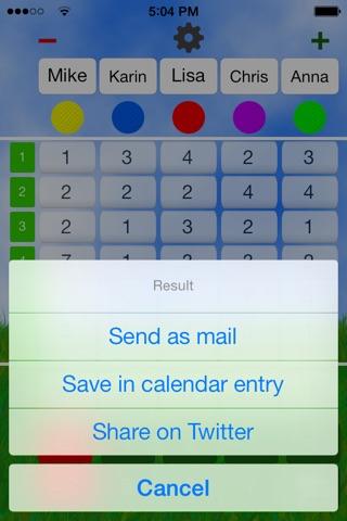 Mini Golf Score Card screenshot 3