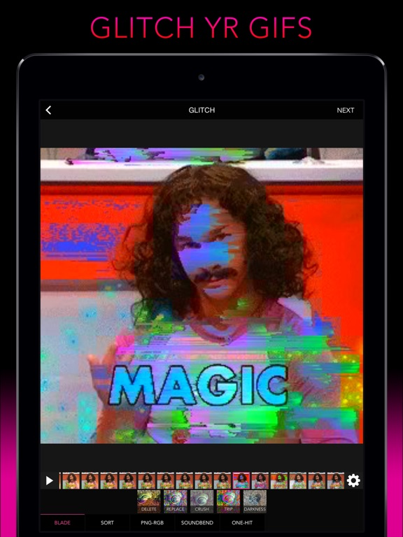 Screenshot #1 for Glitch Wizard - Distort Photos to Trippy GIFs