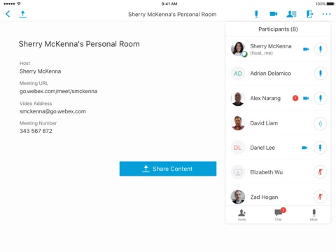 Cisco WebEx Meetings screenshot 4
