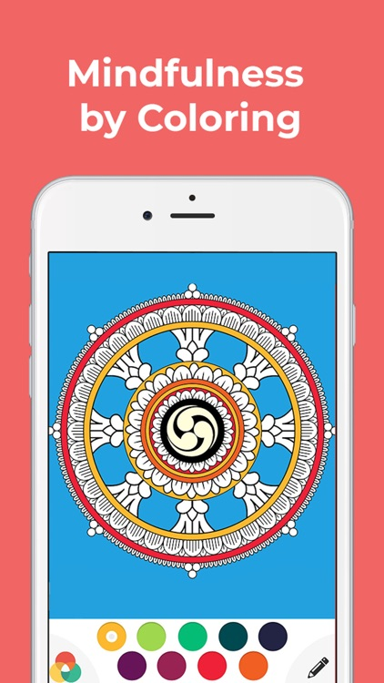 Buddhism Zen Coloring Book App by Publicista