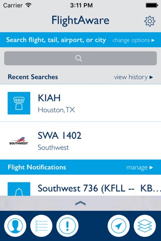 FlightAware Flight Tracker screenshot 1