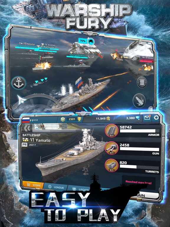 Скачать игру Warship Fury - World of Warships