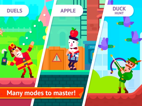 Игра Bowmasters (Ad Free)