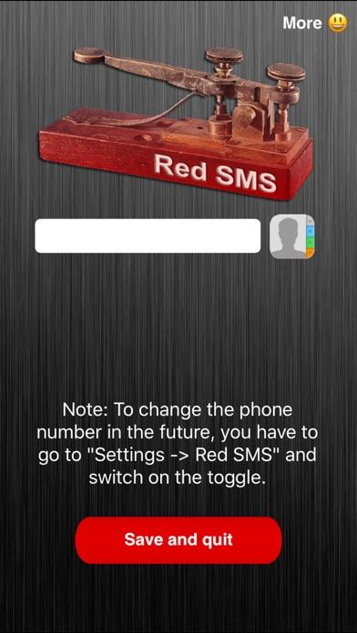 Red SMS screenshot 1