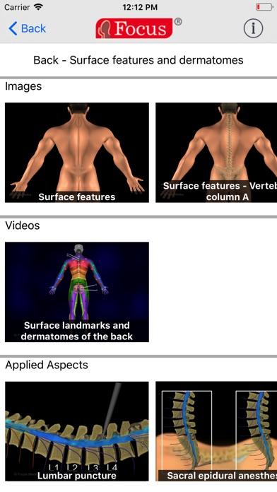 Back and Spinal cord screenshot three