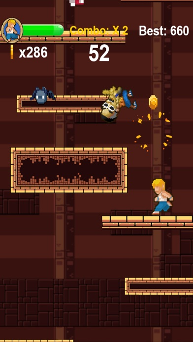 Dungeon Fighter - 8 Bit Endless Kung Fu Fighting Game Screenshot