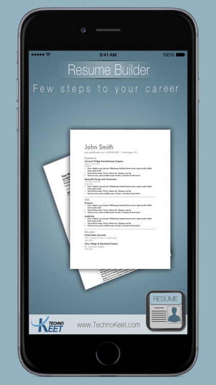 easy resume builder: free resume app and cv maker by techno keet ... - Easy Resume Builder Free