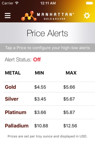 Precious Metal Prices screenshot 3