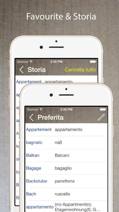 Dizionario tedesco italiano traduttore gratis sull 39 app store for Traduttore apple