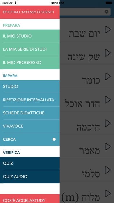 Screenshot of Impara l'ebraico - AccelaStudy®1