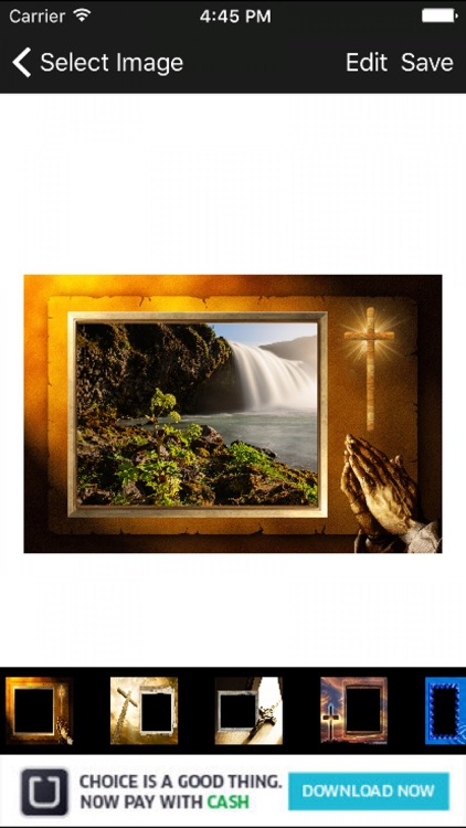christian god picture frames photo editor