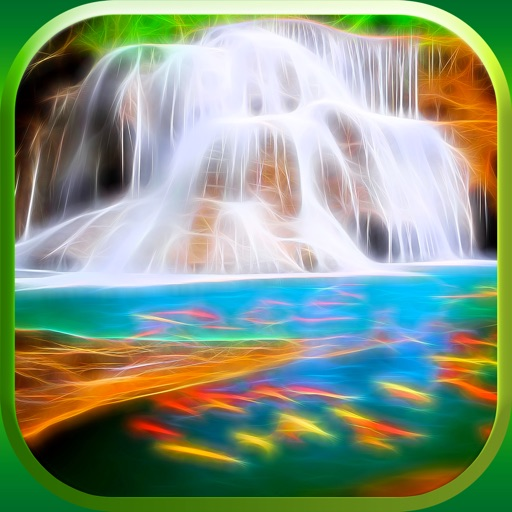 3D Waterfall Wallpaper – Cool Fractal Nature Background.s & Retina Lock Screen.s iOS App