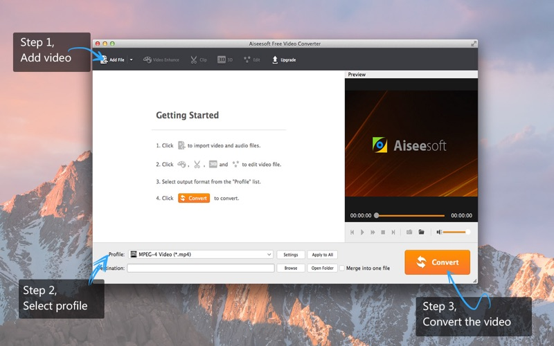 Screenshot #1 for Aiseesoft Free Video Converter - Convert Video from YouTube/AVI to MP4/MP3