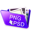 PSD 2 PNG: Batch convert PSD files to PNG