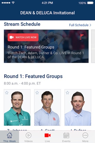 PGA TOUR LIVE screenshot 1