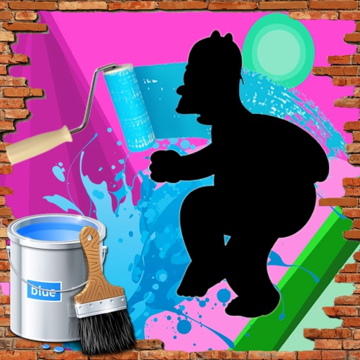 Paint For Kids Games Homer Simpson Edition iOS App