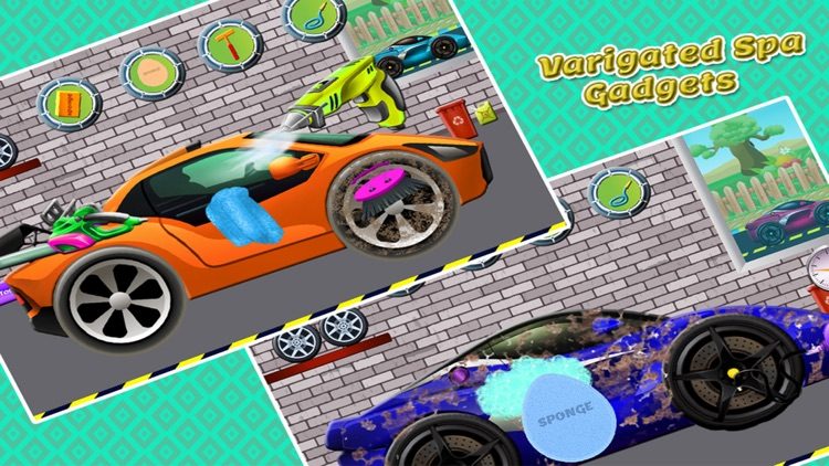 sports car wash design cleaning washing games for kids girls
