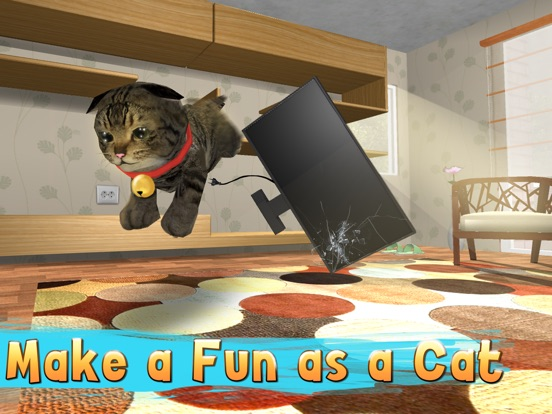 Cat Simulator: Cute Pet 3D Full - Be a kitten, tease a dog! для iPad