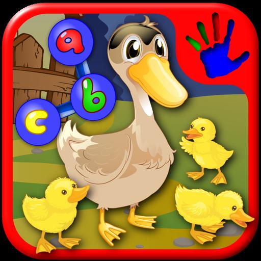 学龄前的 ABC 农场动物加入点拼图 — — 教数字和字母 for Mac