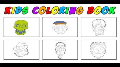 Screenshot of Maschere coloring book - Giochi di Halloween Learning libro da colorare per i bambini2